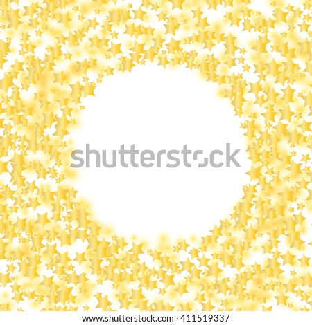 glowing stars round frame over white. vector design template - stock vector