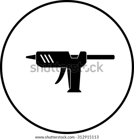 glue gun symbol - stock vector