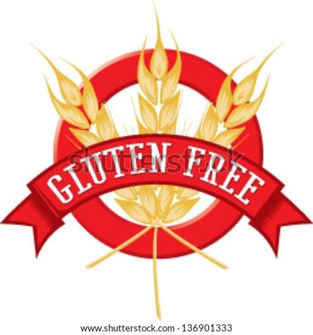 Gluten Free banner - stock vector