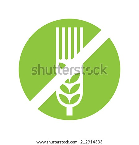 Gluten Free Sign isolated on white background - stock vector