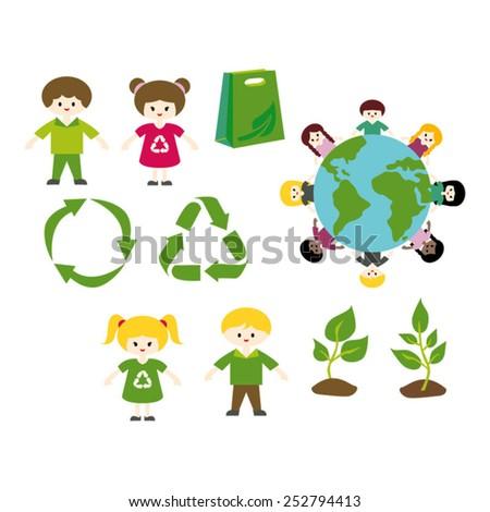 Go green. - stock vector