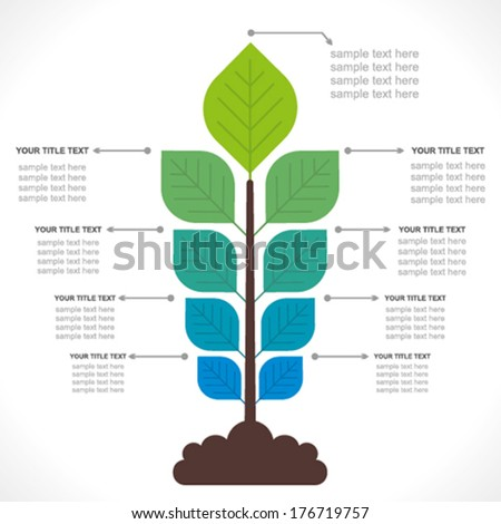 go green concept or creative info-graphics , organic farming  info-graphics concept vector - stock vector