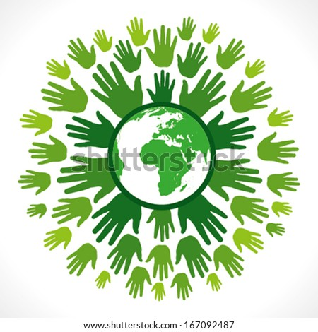 go green concept or save earth concept vector - stock vector