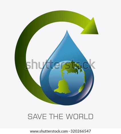 Go green ecology trendy design, vector illustration eps 10. - stock vector