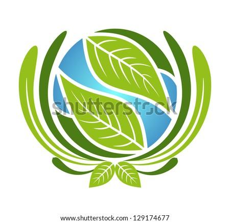 Go green icon - stock vector