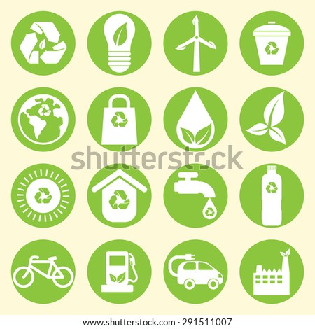 Go Green Icon - stock vector