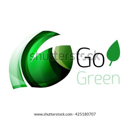 Go green. Leaf nature concept. Vector icon - stock vector