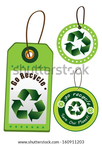 Go recycle set (vector) - stock vector