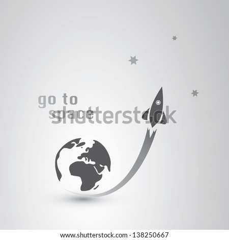 Go to Space Icon - stock vector