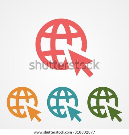 go to web . vector icon 10 EPS - stock vector