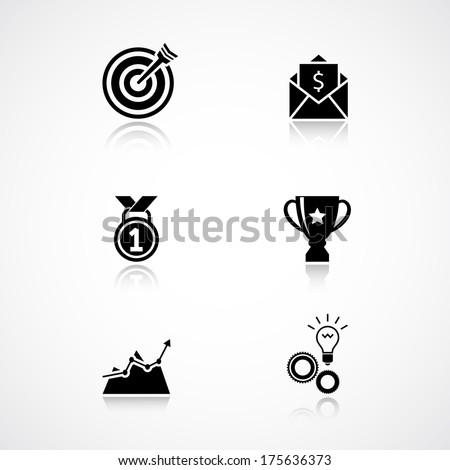 Goal Achievement Clipart Goal Achievement Icons Set of