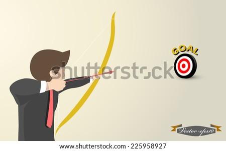 goal vector - stock vector
