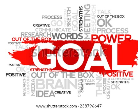 GOAL. Word business collage, vector background - stock vector