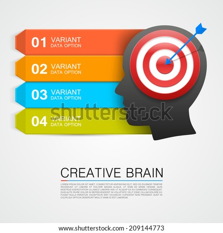 Goals with target information. vector illustration - stock vector