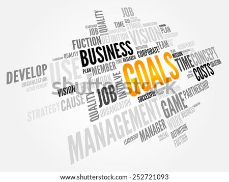 GOALS word cloud, business concept - stock vector