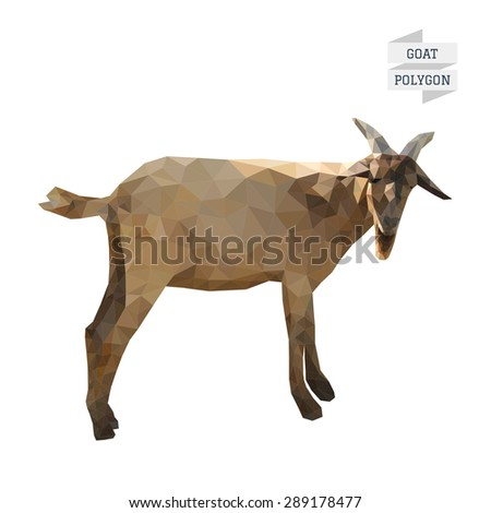 Goat polygon vector - stock vector