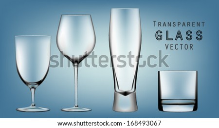 Goblet collection - stock vector