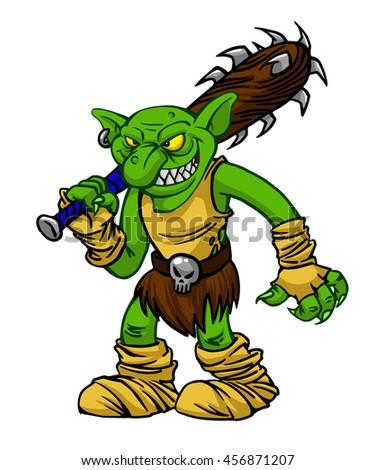 cartoon goblin green illustration vector stock photos