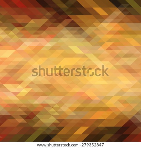 Gold abstract triangle geometric background. Vector illustration - stock vector
