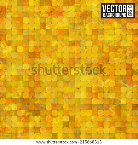 Gold ancient luxury mosaic. Vector illustration - stock vector