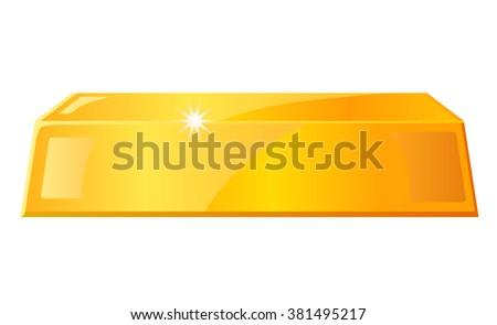 Gold bar vector illustration - stock vector