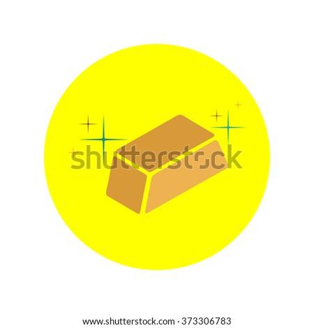 gold bars vector icon - stock vector