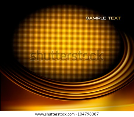 Gold business elegant abstract background. Vector illustration - stock vector