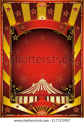 Gold circus background. A circus background with gold sunbeams - stock vector