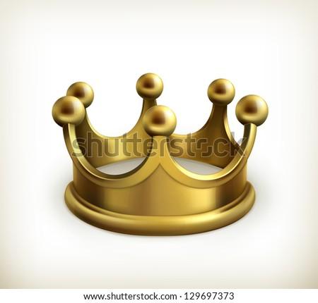Gold crown vector - stock vector