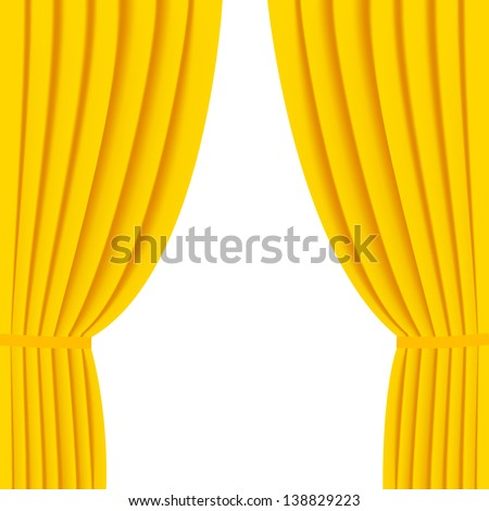 Gold curtain background - stock vector