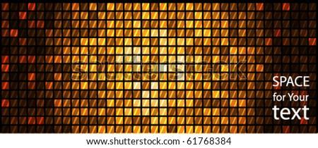 Gold. Disco light dots - stock vector