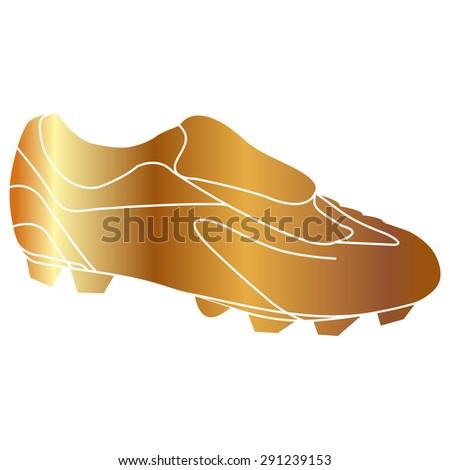 Gold Football boots - vector illustration - stock vector