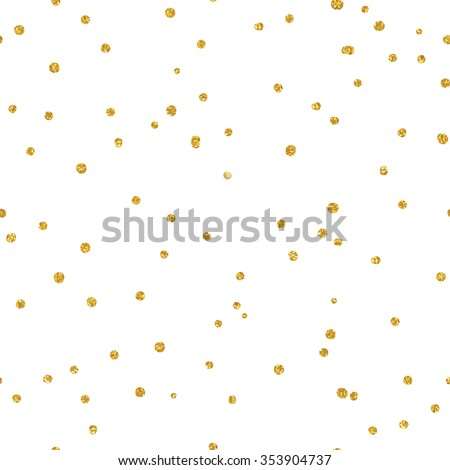 Gold glittering confetti seamless pattern - stock vector