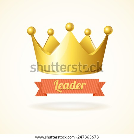 Gold king crown isolated on a white background  - stock vector