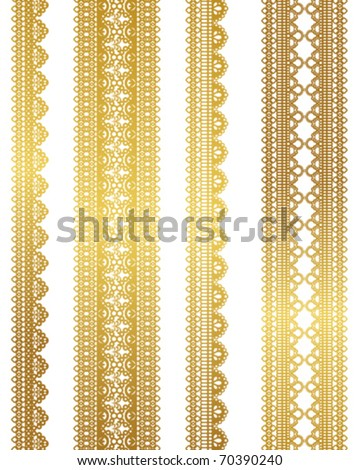 gold lace - stock vector