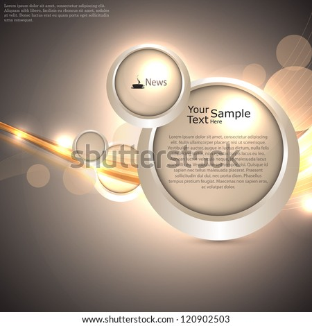 gold, lighting web design template - stock vector