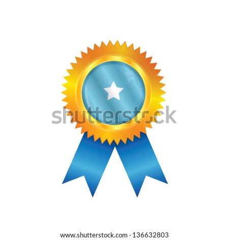Gold medal with the national flag of Somalia - stock vector
