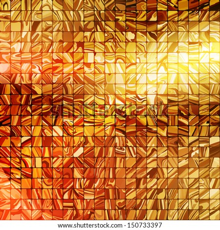 Gold mosaic background. EPS 10 vector file included - stock vector