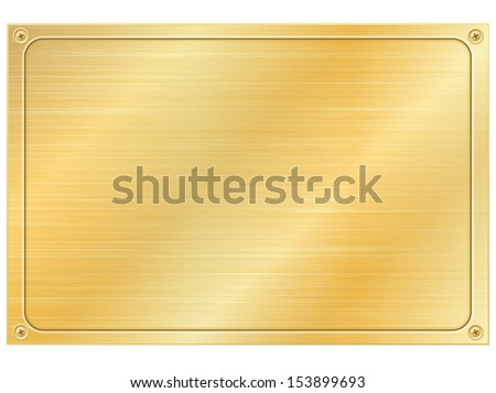 Gold plate - stock vector