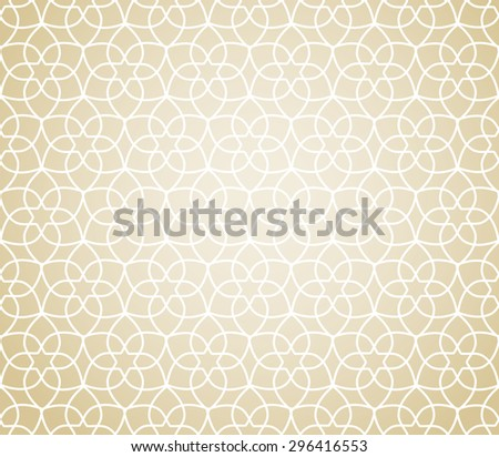 gold ramadan traditional seamless pattern, endless texture can be used for wallpaper, pattern fills, web page,background, surface - stock vector
