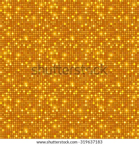Gold shining dots background. Network concept. Shining texture. Vector illustration for graphic design.  - stock vector