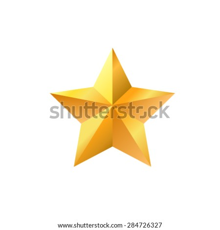 Gold star. - stock vector
