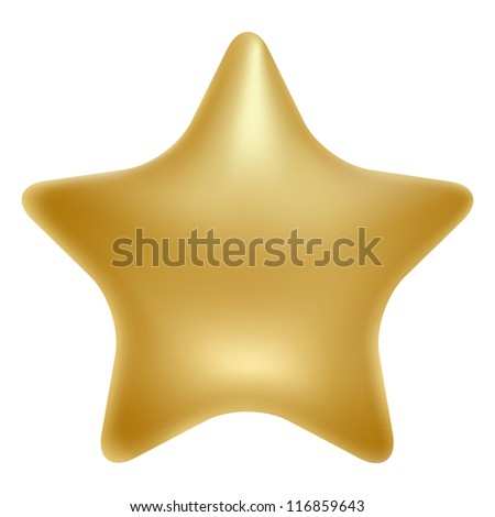 gold star. Vector illustration - stock vector