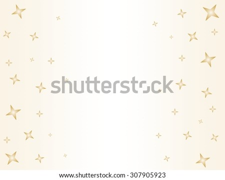 Gold stars on the side on a gold background with white center - stock vector