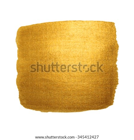 Gold Texture. Abstract hand painted golden background. Isolated on white. - stock vector
