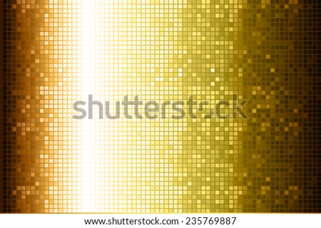 Gold Vector abstract design. pixels mosaic background computer graphic website and internet.  - stock vector