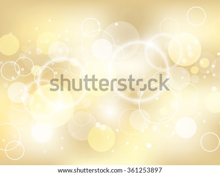 Golden abstract background with lights effect and bubbles/design with place for your content, creative editing or pc desktop/vector illustration. - stock vector