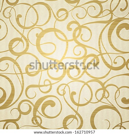 Golden abstract pattern on sepia background.  Vector illustration. - stock vector