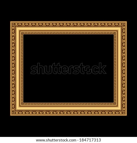 Golden antique frame for your picture. Vector illustration - stock vector