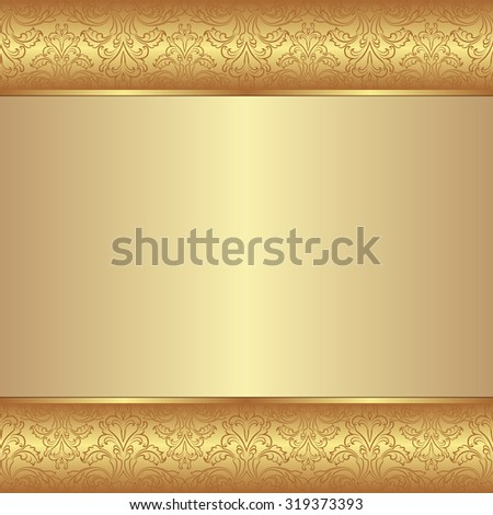 golden background - stock vector